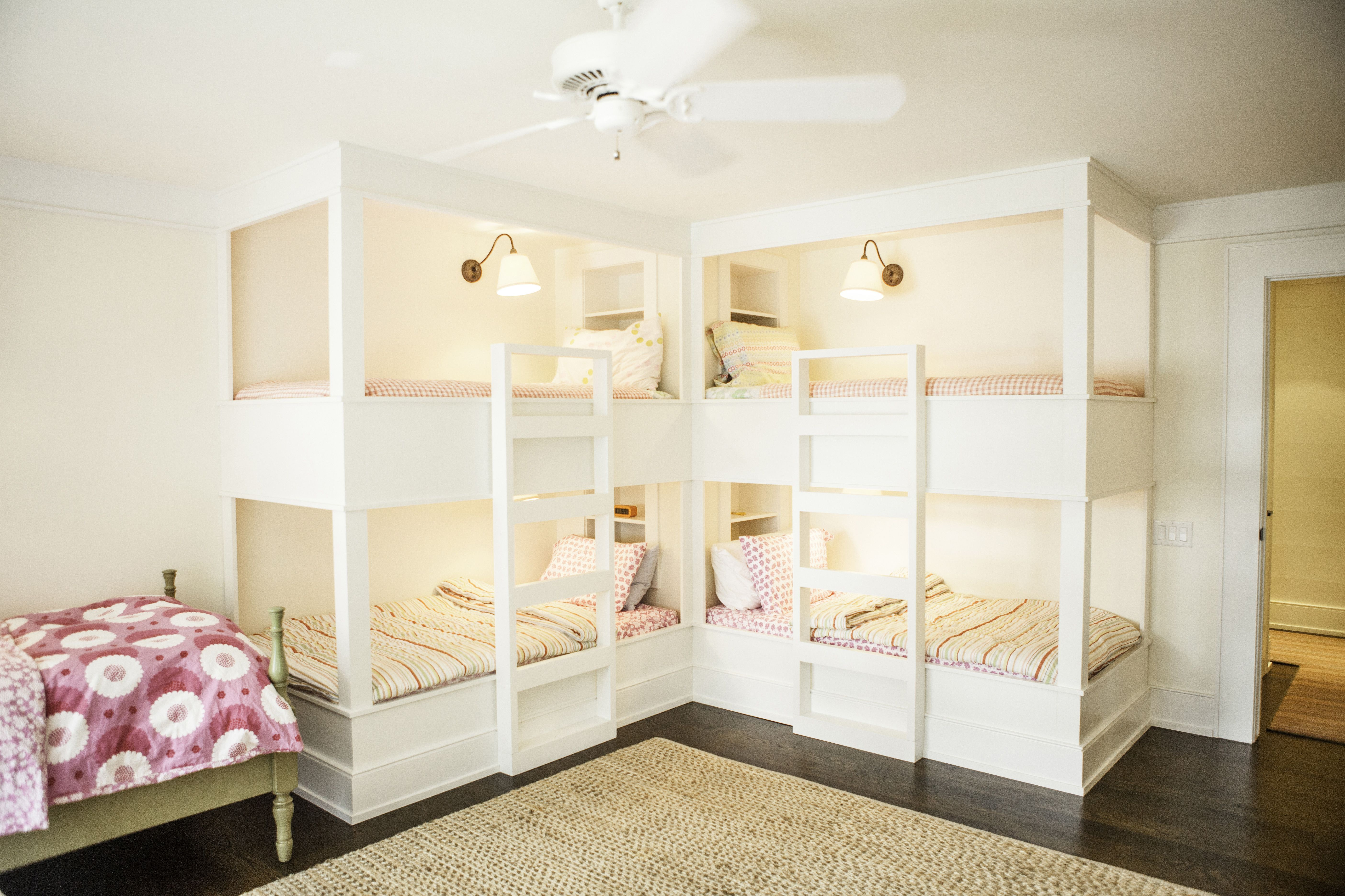 Girl S Room Built In Bunk Beds Karen Kempf Interiors Copyright