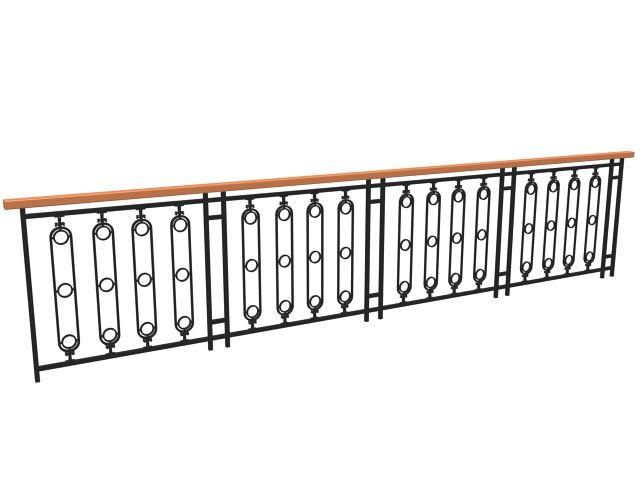 Contemporary Railing Design 3d Model 3dsmax 3ds Files Free Download Railing Design Railing Design