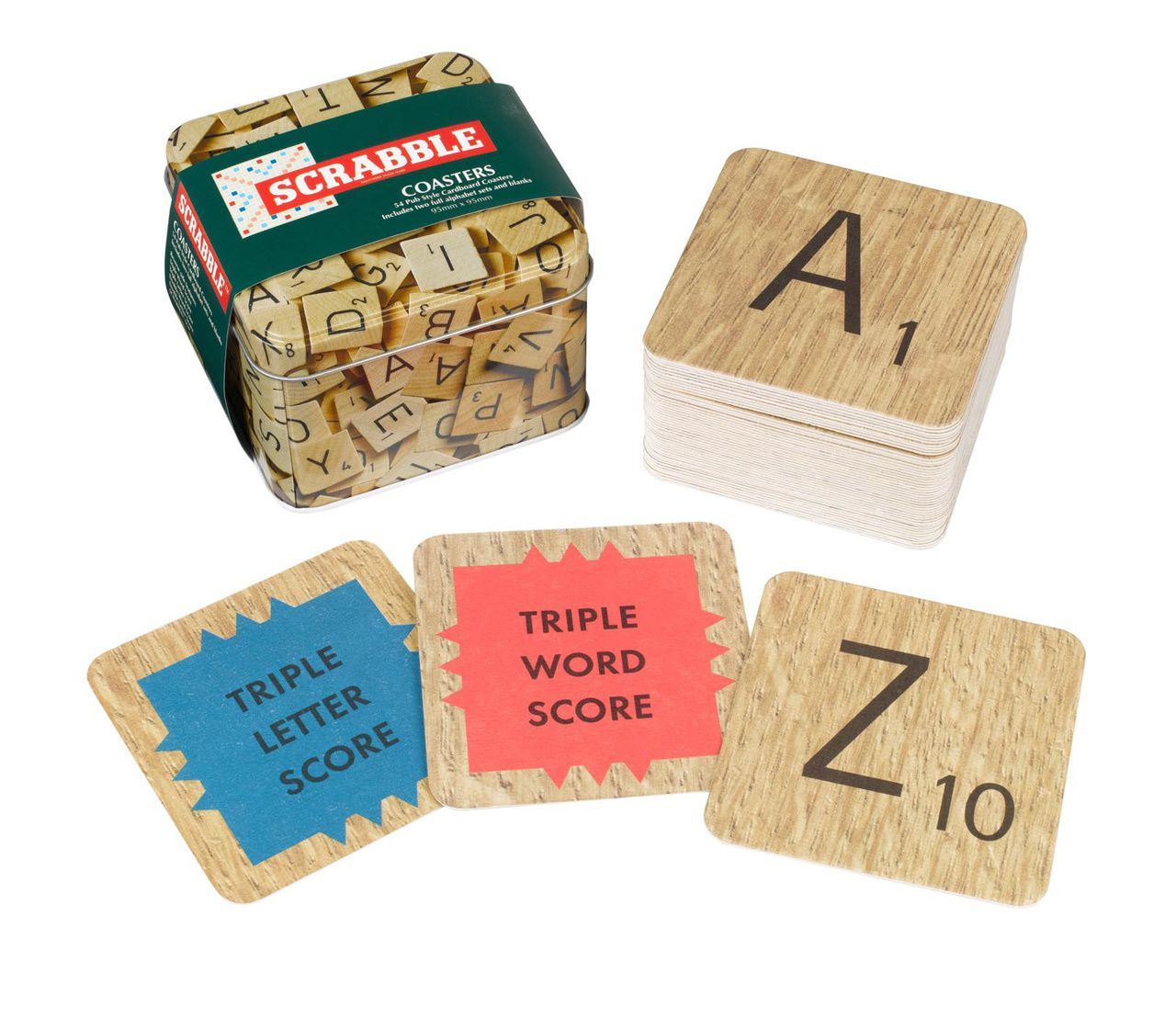 NotTheUsual.co.uk Scrabble Coasters, £12.95 (http