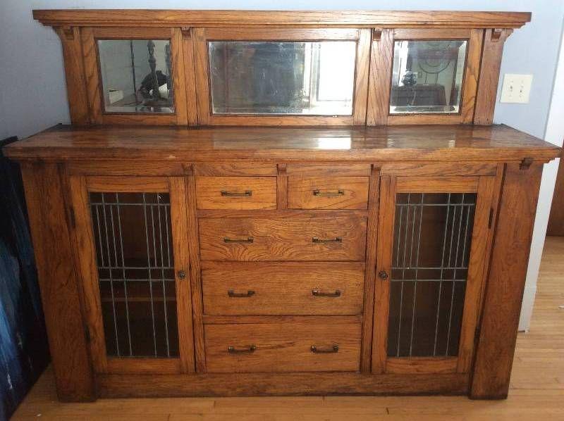 Antique Salvaged Minneapolis Craftsman Built In Buffet Built In Buffet Craftsman Dining Room Craftsman Built In