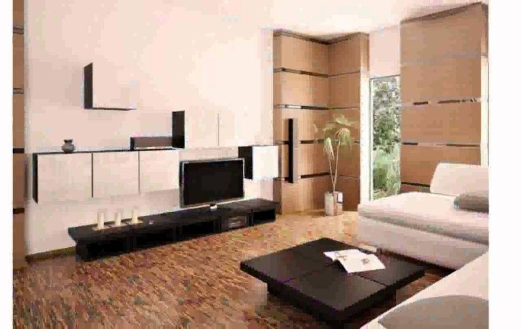 Ecksofa Braun Mit Ottomane Und Holz Couchtisch - wohnideen für wohnzimmer