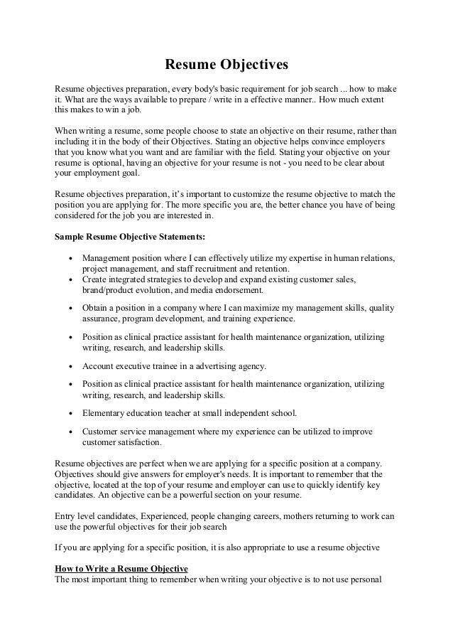 Resume Objectives Amazing Resume Objectives How To Write An