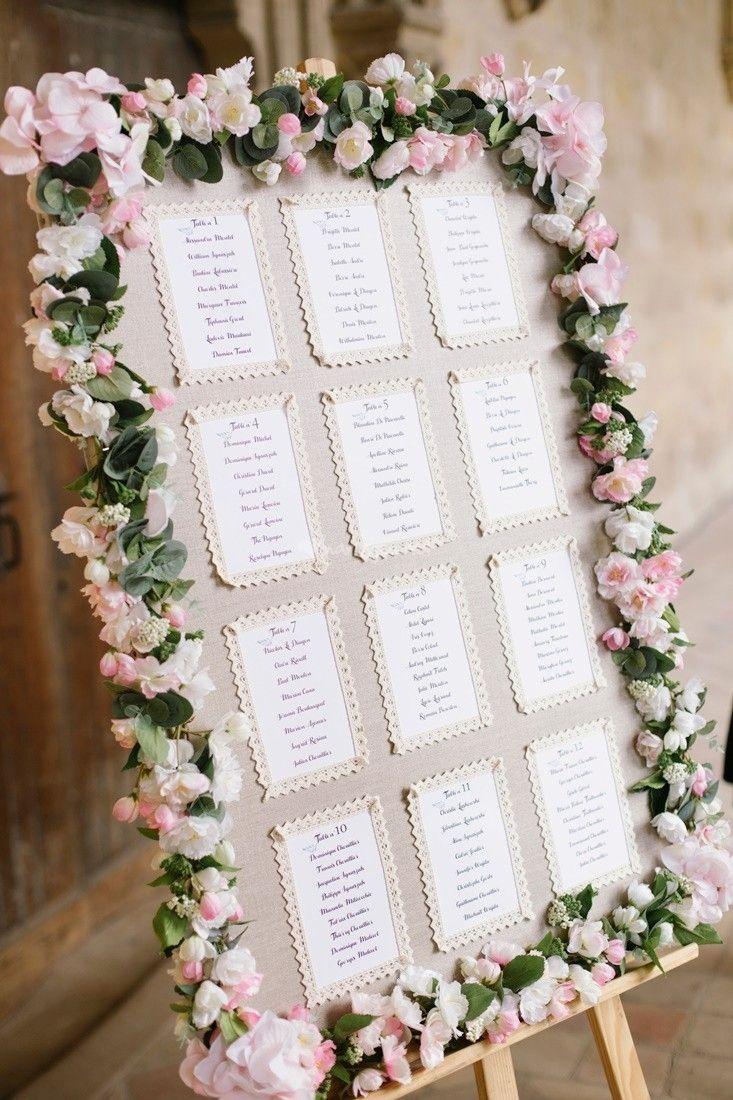 20 Plans De Table Avec Cadres Pour Votre Mariage Deco