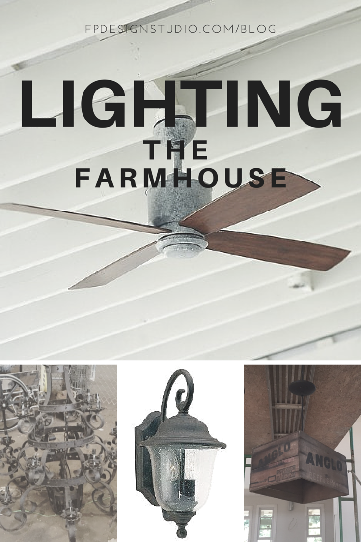 Farmhouse Ceiling Fan and Lighting Selections on a budget