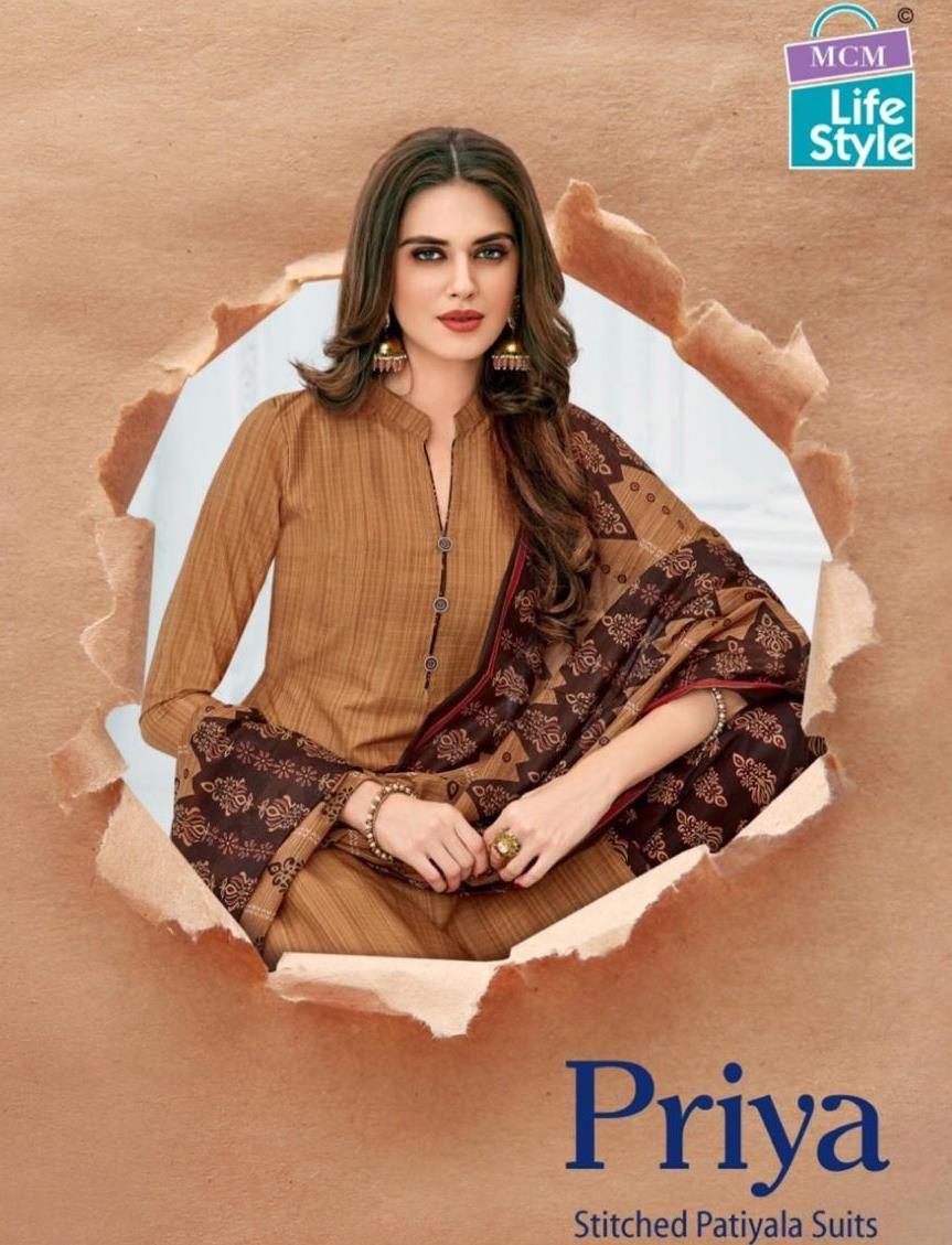 8baf5cd00f MCM Lifestyle Priya Printed Printed Cotton Readymade Patiala Suits  collection