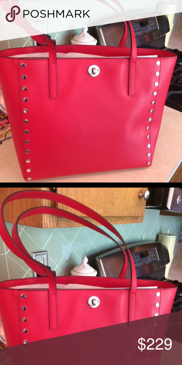d6cd60dd59f1 Michael Kors Rivington Bag Michael Kors large Rivington Studded Bag. This  bag is brand new