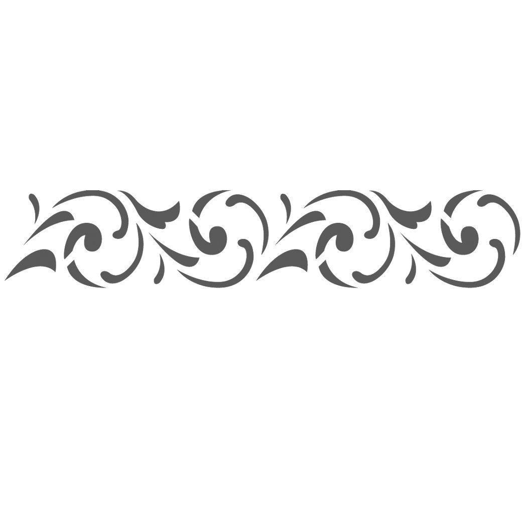 Amazon Com J Boutique Stencils Wall Border Stencils Pattern 034 Reusable Template For Diy Wall Decor Stencil Pattern Stencils Wall Stencil Patterns