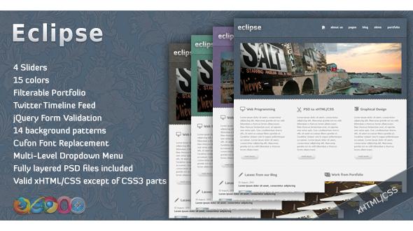Eclipse Htmlcss Portfolio Template Rip Download Eclipse Is A Theme