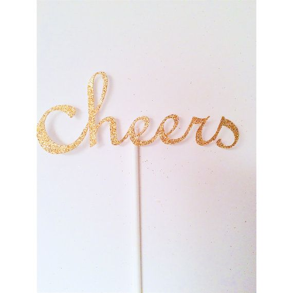 Items similar to Cheers Centerpieces, Cheers to 30 years Centerpiece, 2018 Table Decor, New Years Eve Party Centerpieces- Set of 4 centerpieces on Etsy