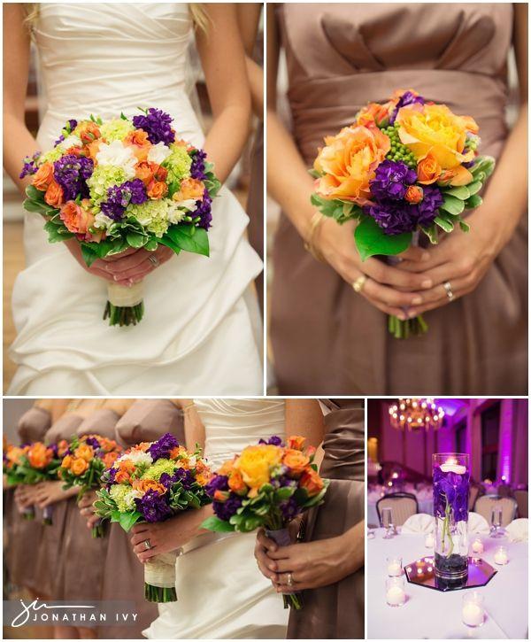 38 Purple, orange and green wedding flowers.jpg, love with that ...