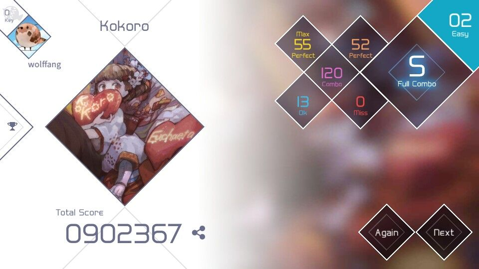 Voez best rythem and music game ever and i challenge u guys to beat my score in kokoro