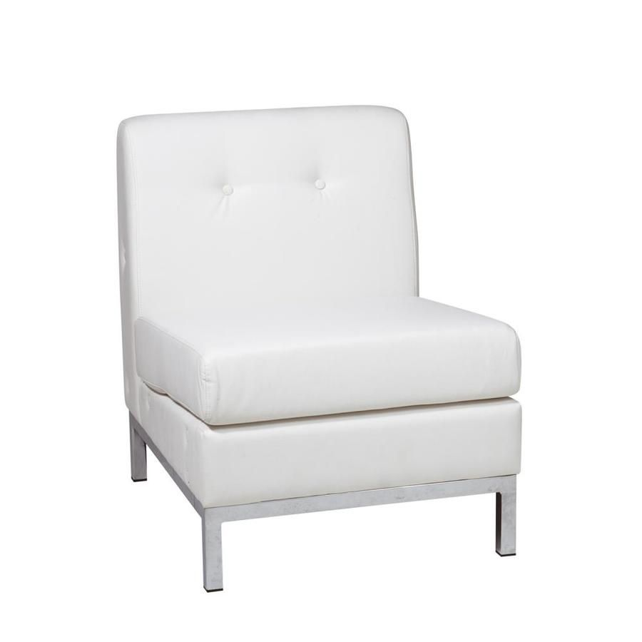 Osp Home Furnishings Avenue Six Modern White Faux Leather Accent Chair Wst51n W32 In 2020 Leather Accent Chair Osp Home Furnishings Guest Chair