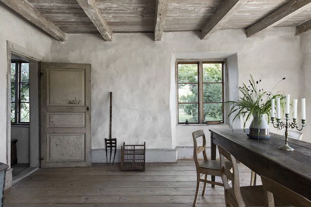 Raw charm on Gotland island #rusticinteriors