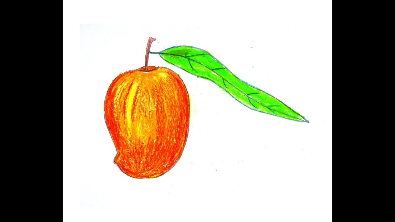 How To Draw A Mango Step By Step Oil Pastel Colours Drawings Oil Pastel