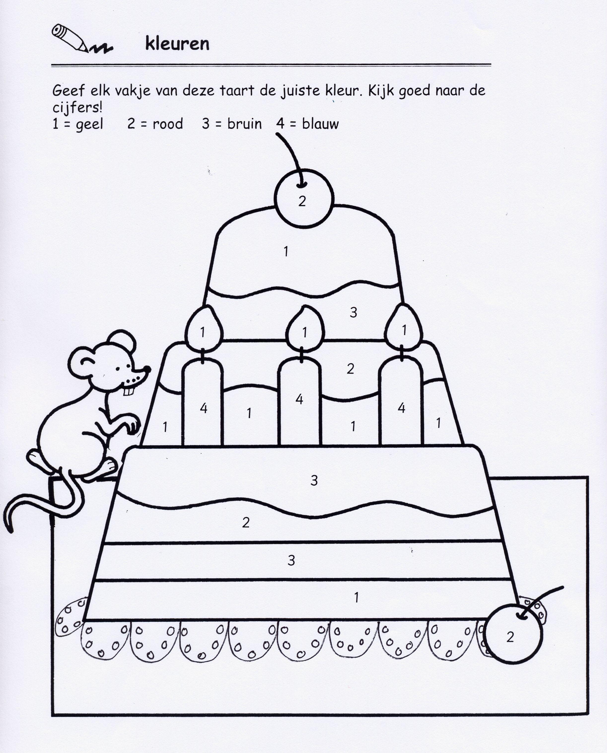 kleuren volgens code school feestboekje verjaardag