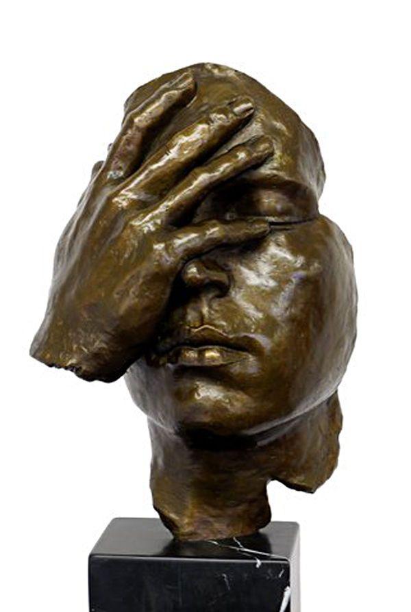 "Moderne Kunst Skulpturen details zu moderne kunst bronze skulptur ""resignation"" - hommage"