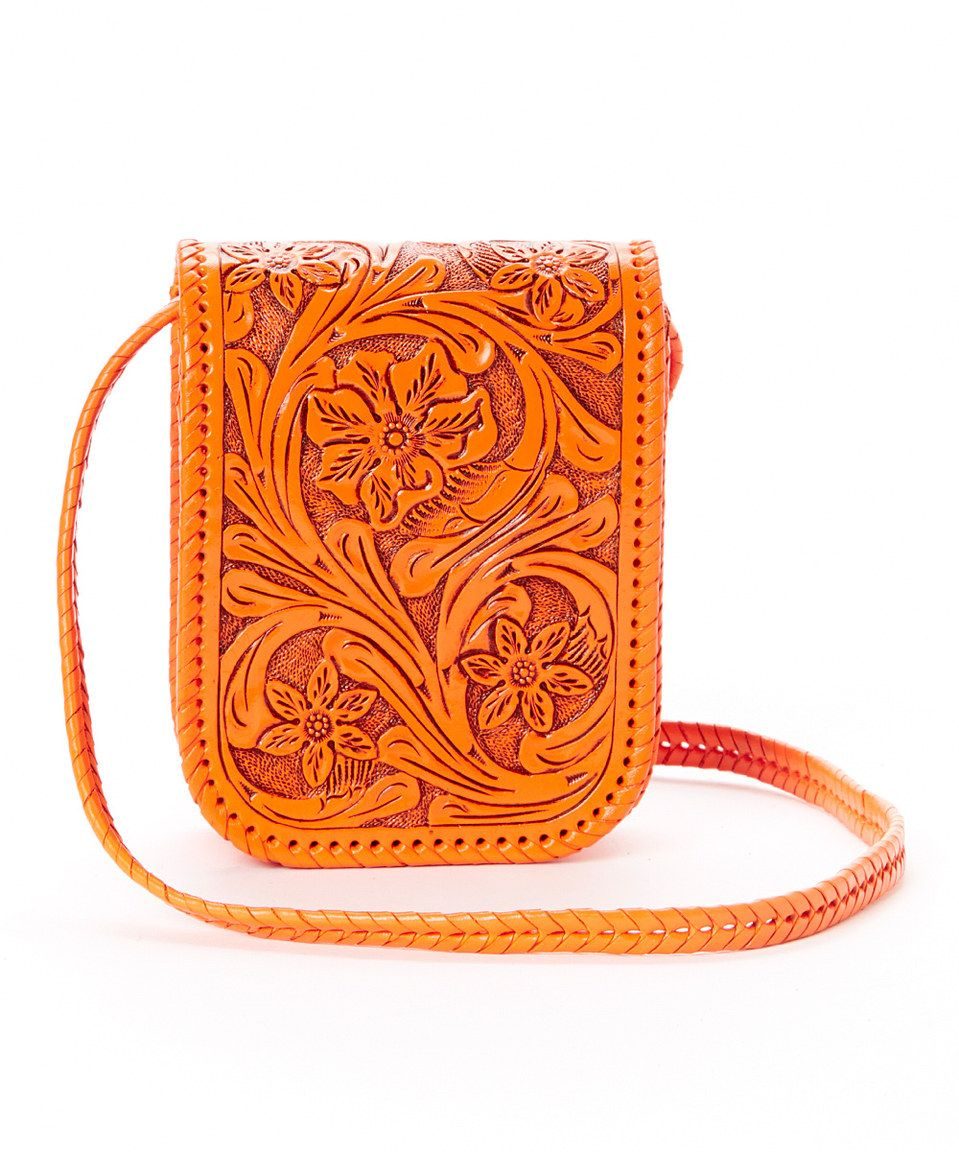 e00e26c98f023a Adam Alexis Orange Mia Leather Crossbody Bag by Adam Alexis #zulilyfinds