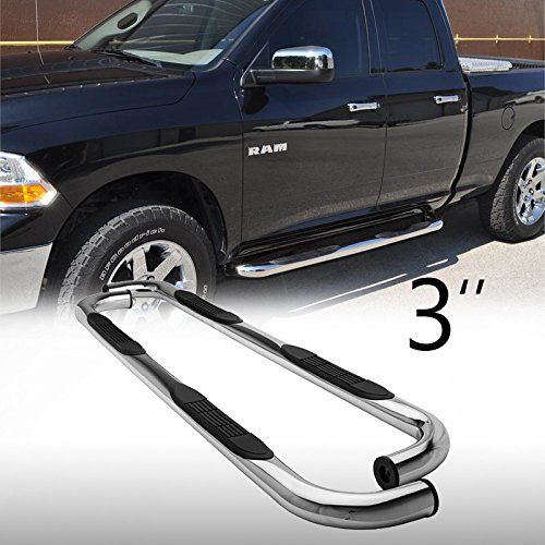 "Mifeier 3"" Side Step Nerf Bar Rails Running boards For 09 16 Dodge"