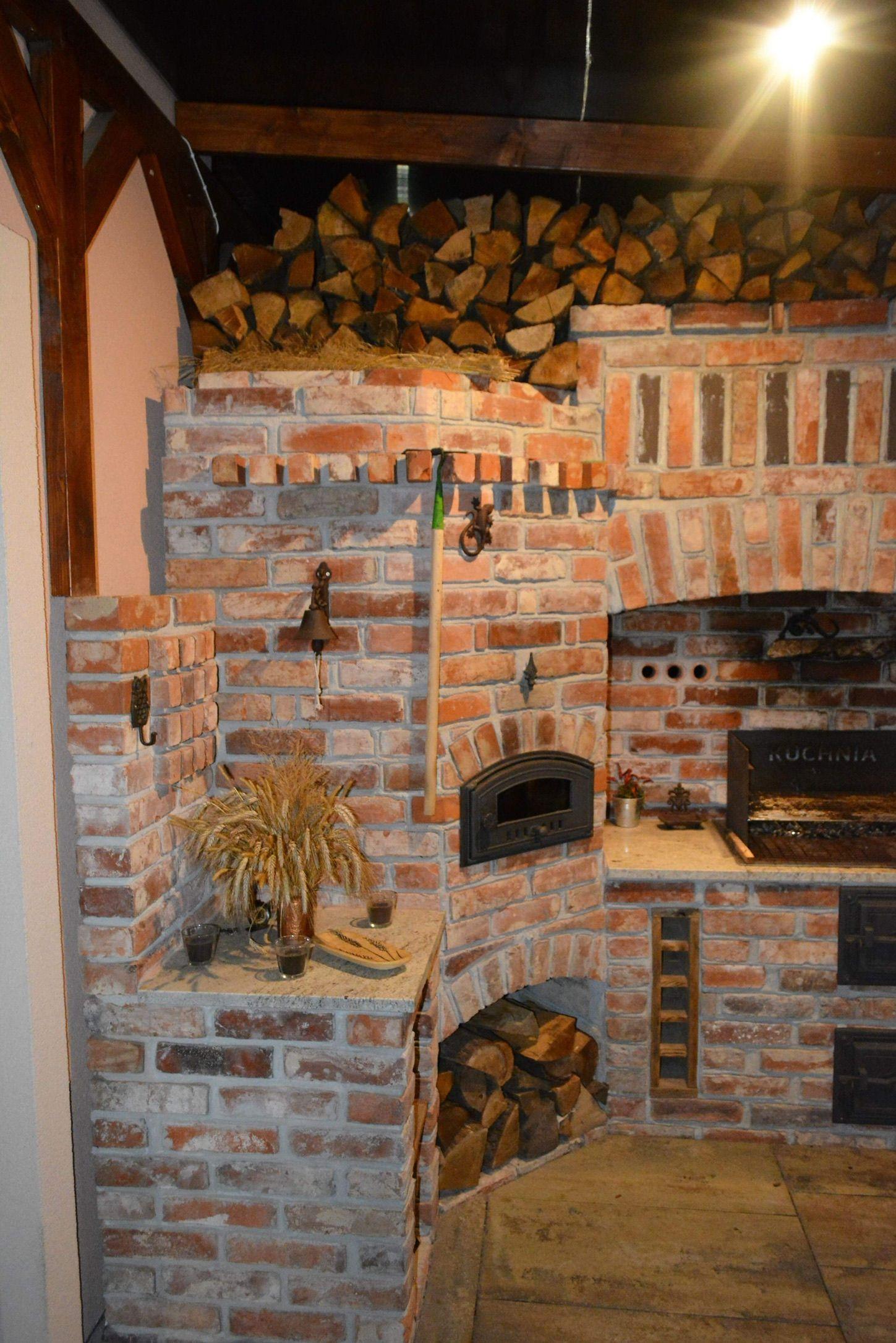 Kuchnia Letnia Ze Starej Cegly Canning Kitchen Summer Kitchen Bbq Pit