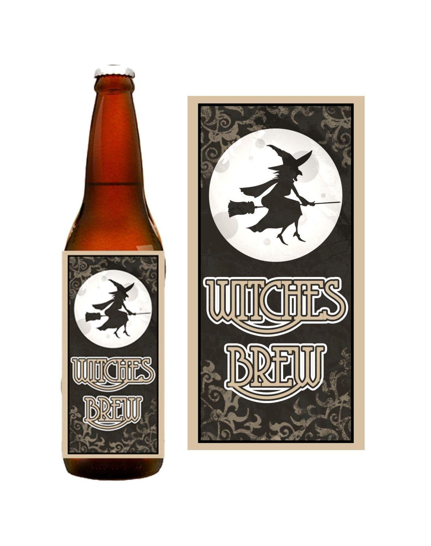 INSTANT DOWNLOAD Halloween Beer Bottle Printable Label DIY ...