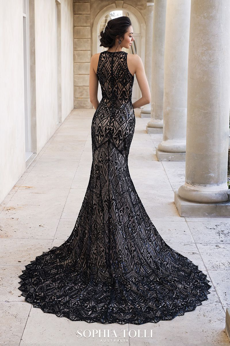 Sophia Tolli Raven Sophia Tolli Black Wedding Gowns Fit And Flare Wedding Dress Gothic Wedding Dress [ 1200 x 800 Pixel ]