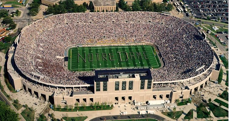 Take A Stand More Like Take A Seat Stadium Notre Dame Football Stadium Notre Dame