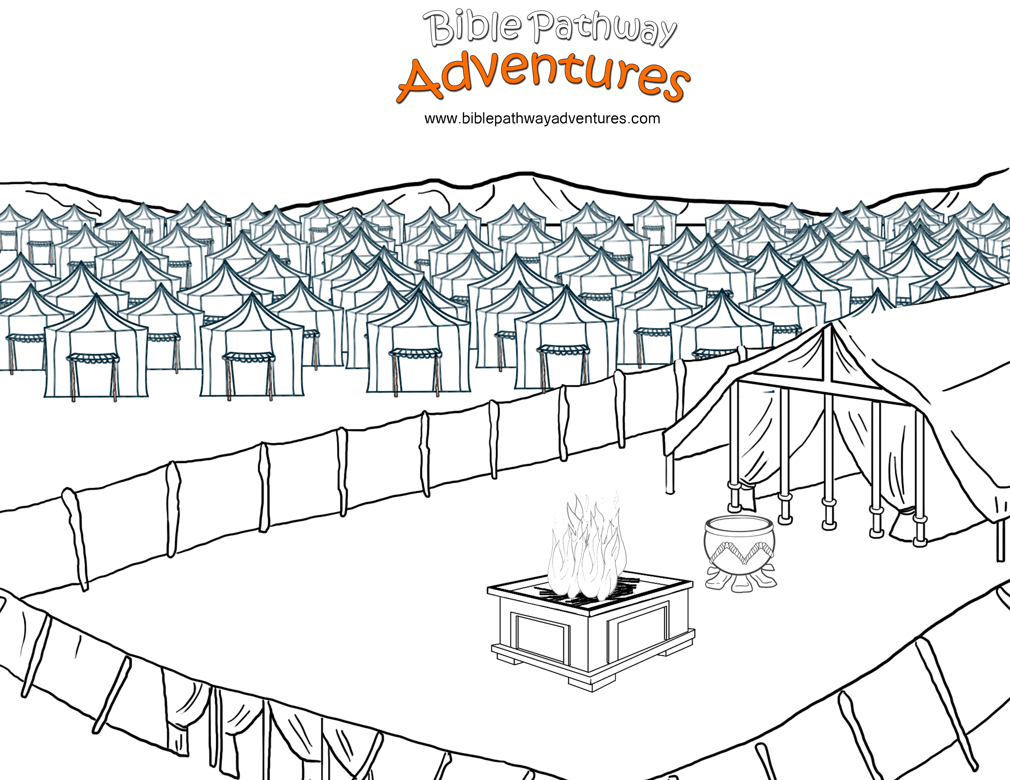 free bible coloring page tabernacle in the wilderness sunday