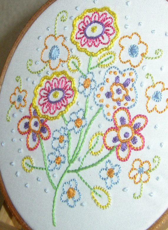 Hand Embroidery Pattern INSTANT DOWNLOAD Fresh por xanderpanda, £3.00