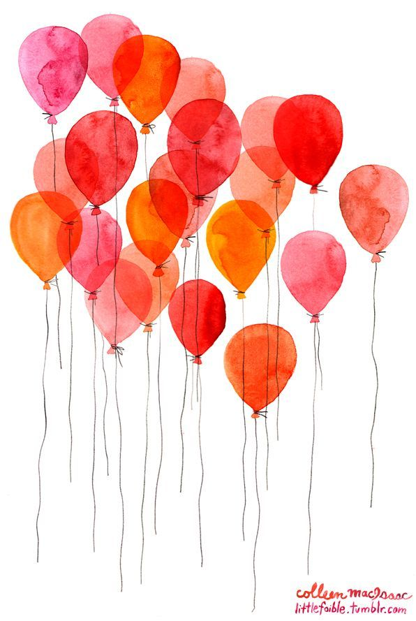Balloon Watercolor Balloon Watercolor Watercolor Art Art