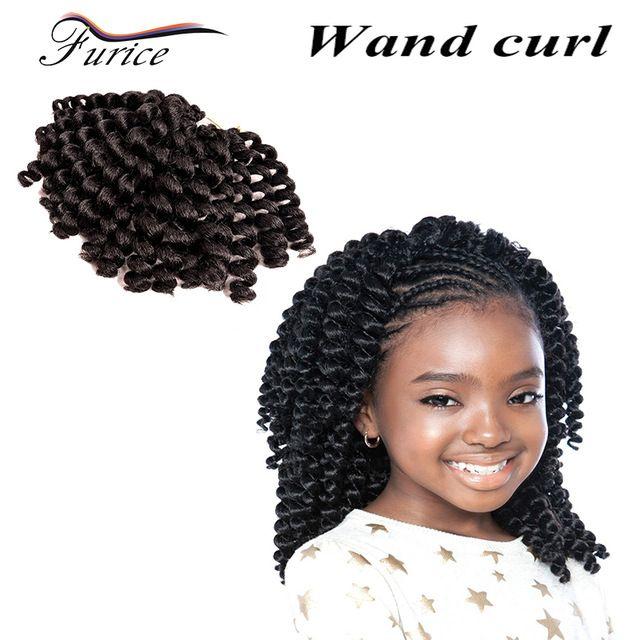 8 Inch Jumpy Wand Curl Crochet Braids Crochet Hair Extension With