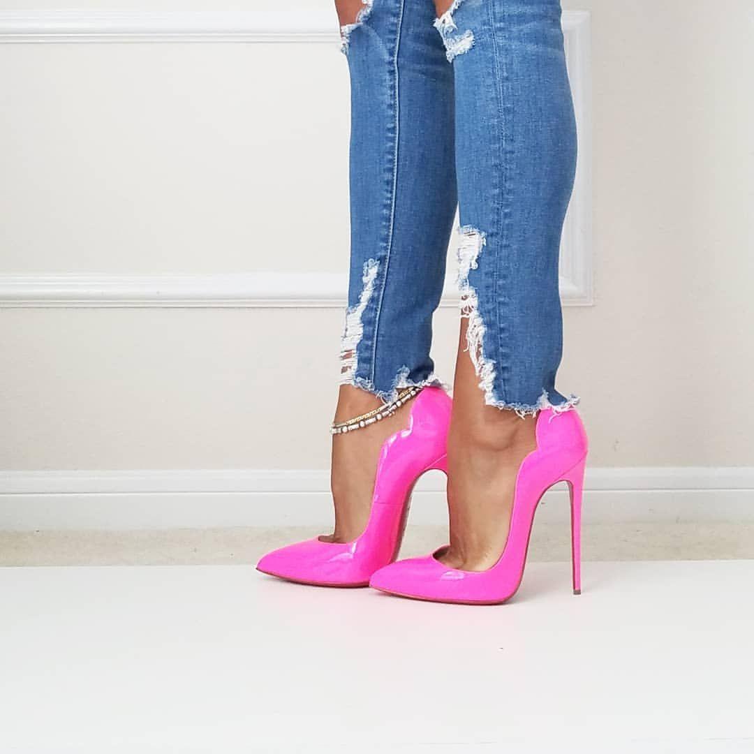 181eec08905 Christian Louboutin Hot Chick 130mm Shocking Pink @louboutinworld ...