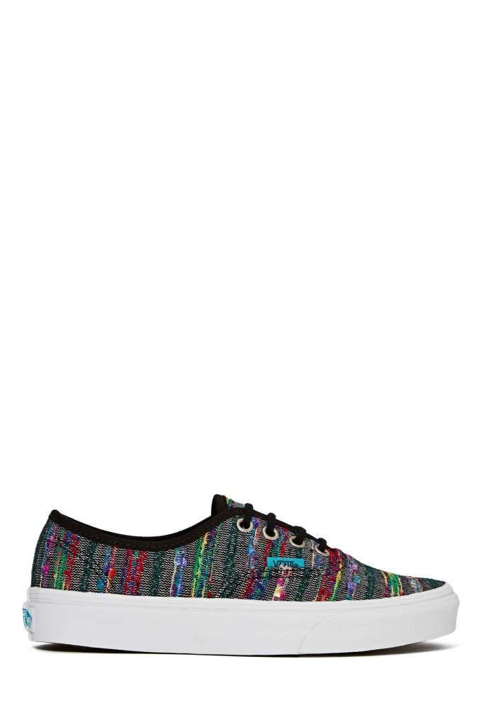 Vans Authentic Sneaker - Black Multi Weave  d712dc5fc11