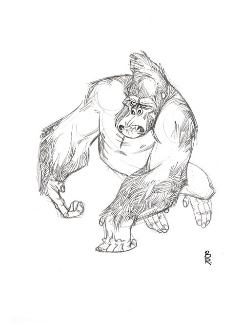 Animal Design By Barry Reynolds G Gorilla Gorilla Illustration Cartoon Character Design Character Design