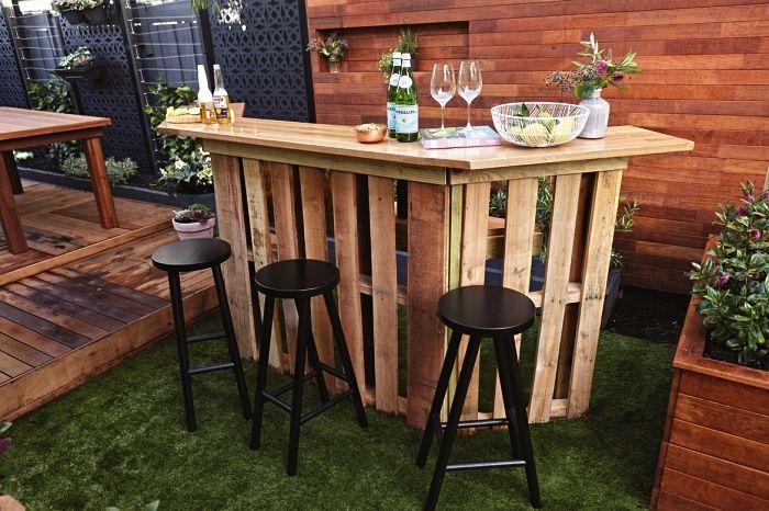 1001 Idees Pour Fabriquer Un Bar En Palette Pour L Exterieur Ou L Interieur Bar En Palette Fabriquer Un Bar Meuble Bar