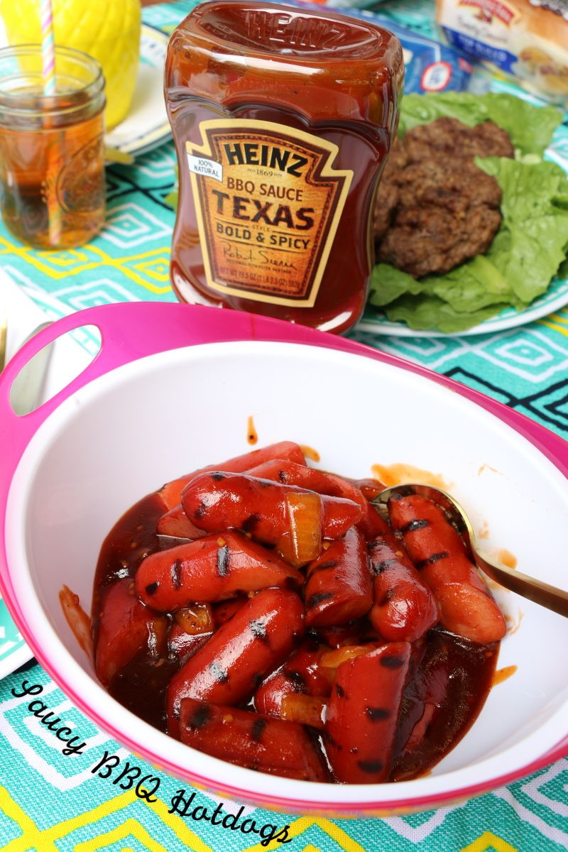 Saucy Bbq Hotdog Recipe And Summer Grilling Essentials Found At Gianteagle On The Blog Summerofgrilling Ad Hot Dog Recipes Summer Grilling Recipes