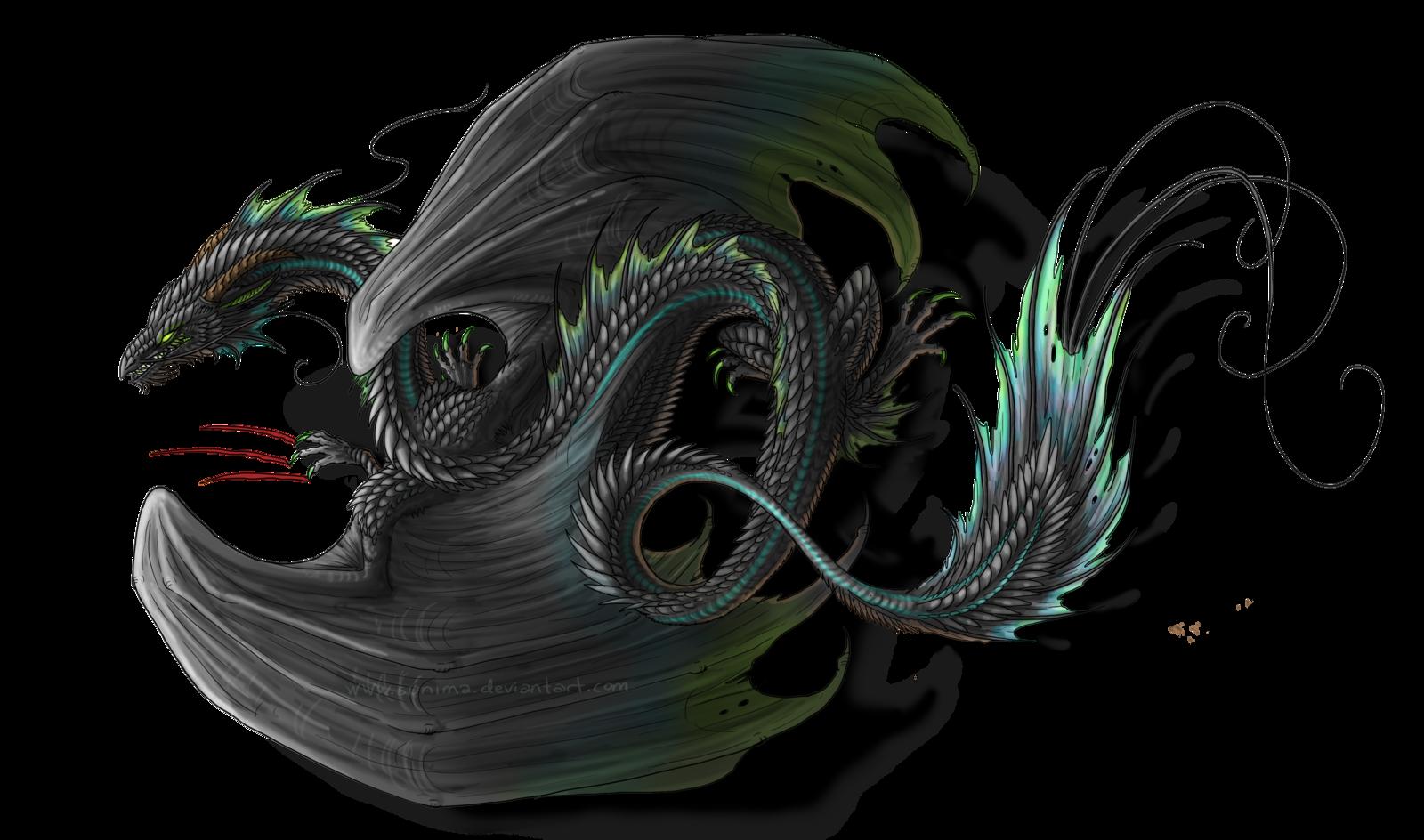 Black Dragon Tattoo by Sunima.deviantart.com on ...