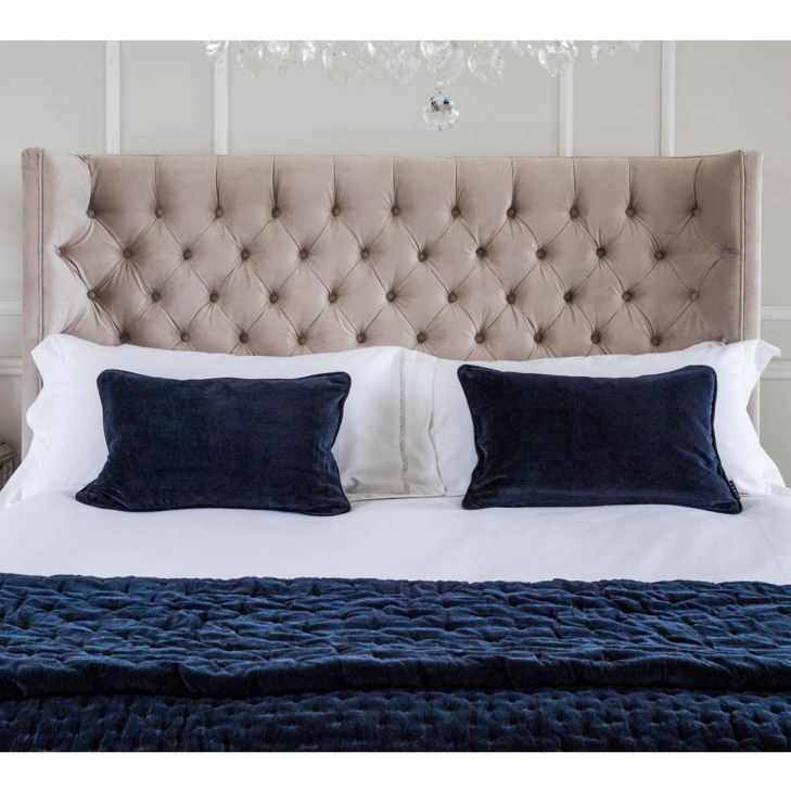 Plushious Navy Blue Cotton Velvet Quilted Bedspread Blue Velvet Throw Bed Linens Luxury Blue Bedspread Blue Velvet Sofa