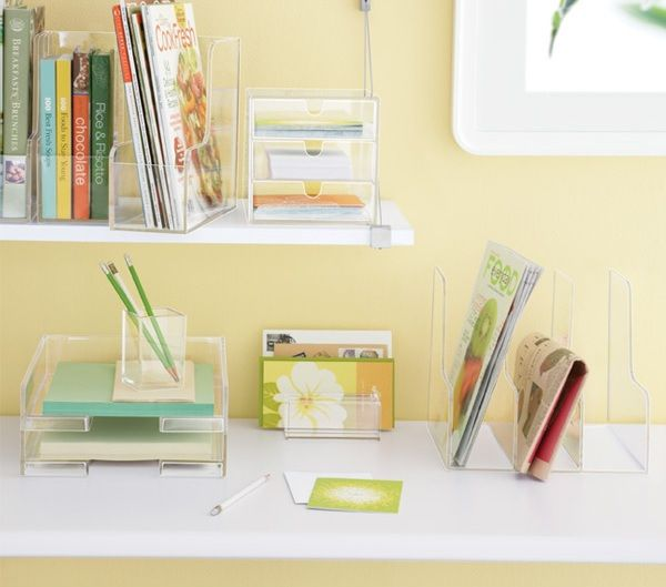 Clear Acrylic Desk Accessories Friday Treats Linden Log