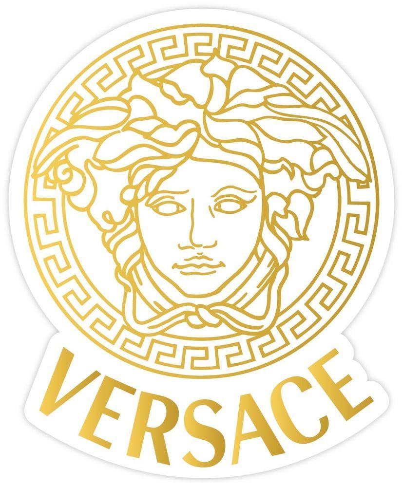 Versace Medusa Gold Vinyl Sticker Decal 3 Sizes Bumper Wall Laptop Locker Home Amp Garden Home Decor Decals Sti Versace Logo Versace Wallpaper Versace