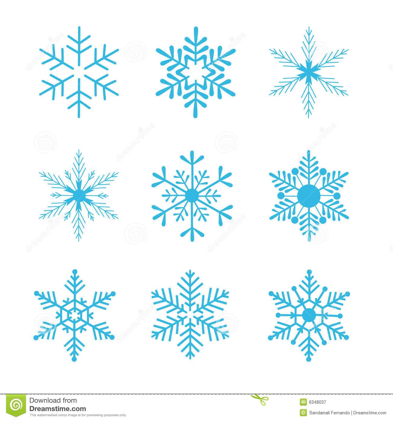Illustration About Collection Of Snowflakes Vector Illustration Isolated On White Background Illustration In 2020 Snowflakes Drawing Snowflakes Art Crystal Drawing
