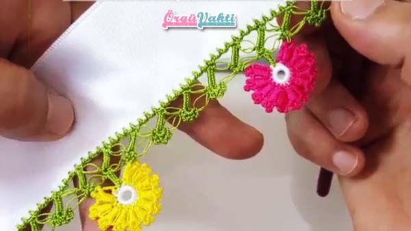 Tığ İşi Küçük Yelpaze Çiçekler Modeli Yapılışı Videolu Anlatımlı