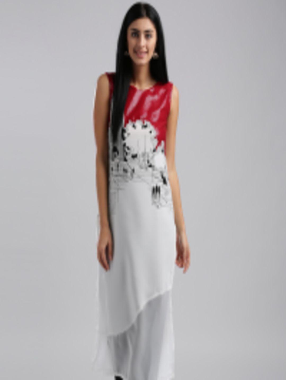 f53b58d0635 Buy W Women White   Red Printed Straight Kurta - Kurtas for Women 2248896