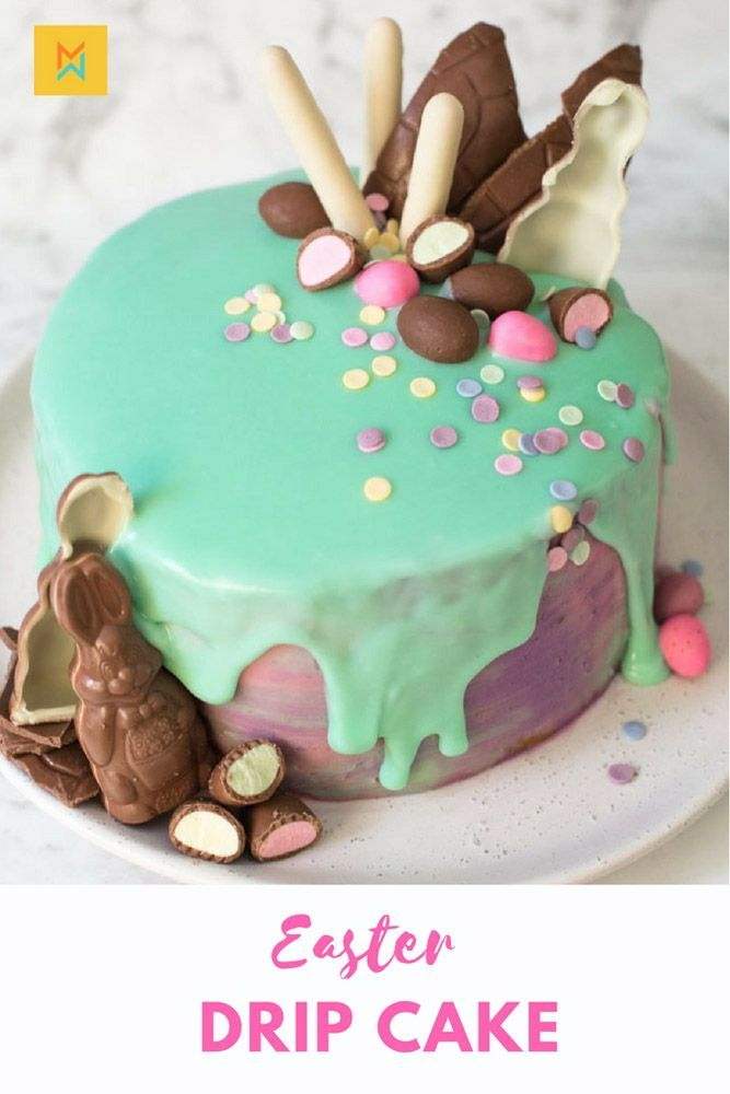 Pretty Drip Easter Cake to Make at Home - Meraki Mother