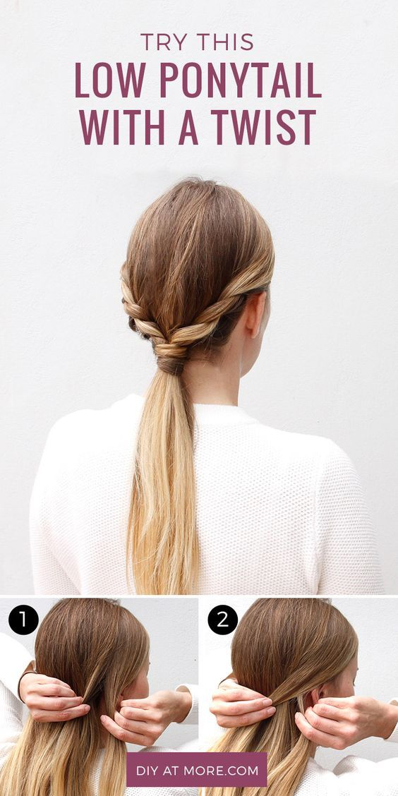 Trade In Your Everyday Hairstyle For This Ponytail With A Twist More Hair Styles Easy Hairstyles Diy Hairstyles