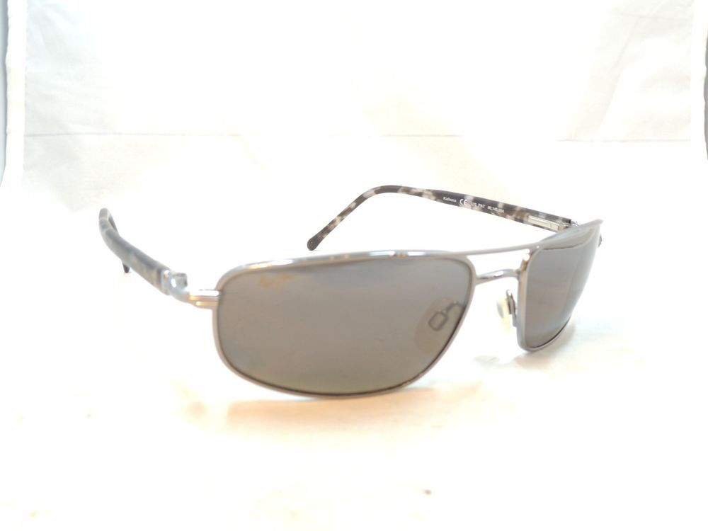 d5476bbe775 Maui Jim 162 02 Kahuna Polarized Grey Gunmetal Sunglasses 59 18 130 ...