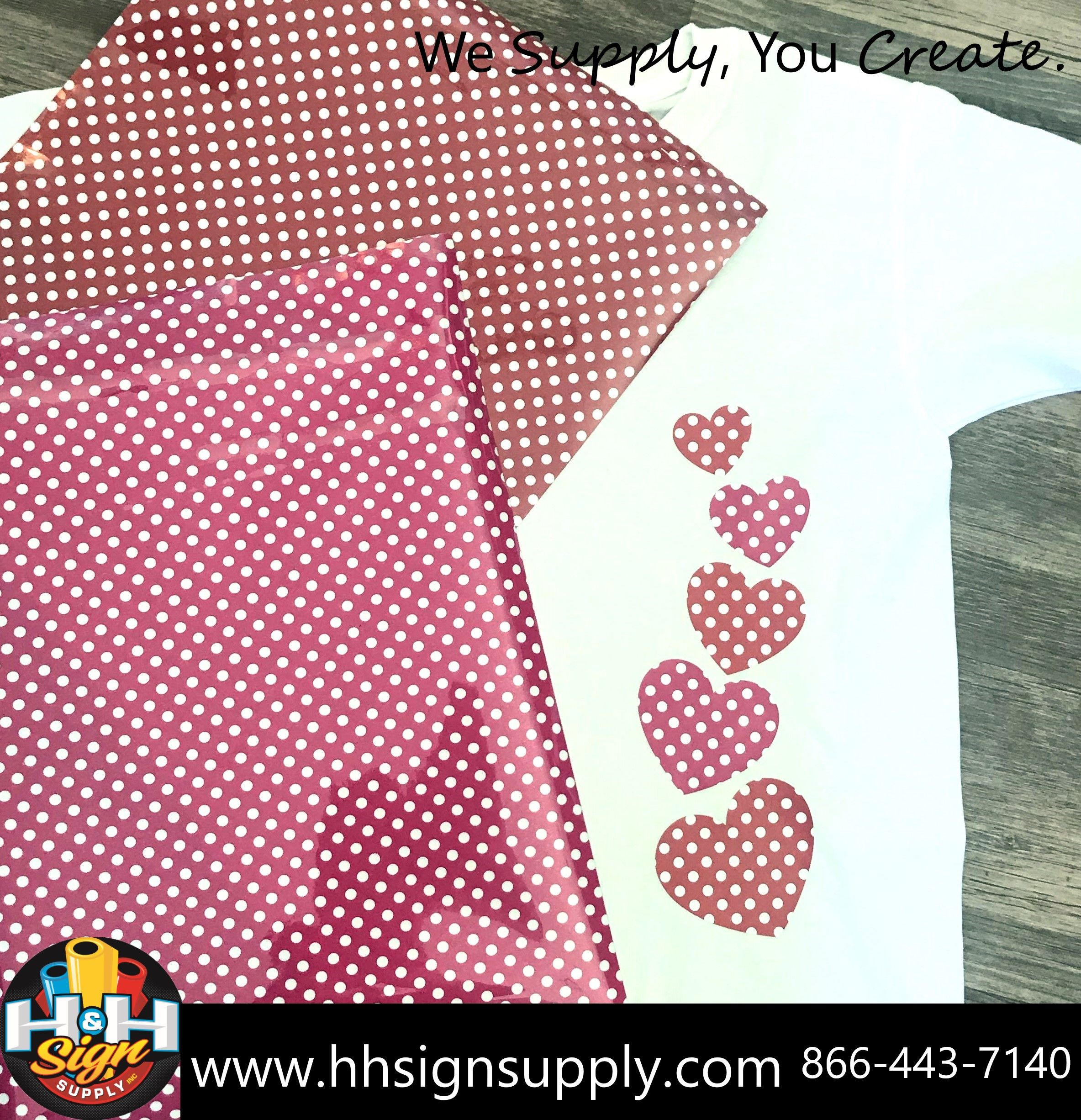 Pre Masked Red White Polka Dots Heat Transfer Vinyl By The Foot