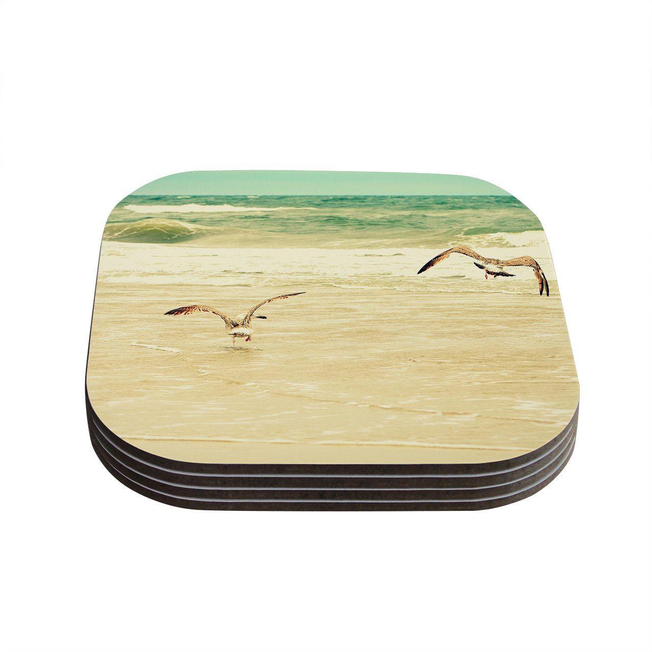 "Robin Dickinson ""Karate Kid Pose"" Art Object Coasters (Set of 4)"
