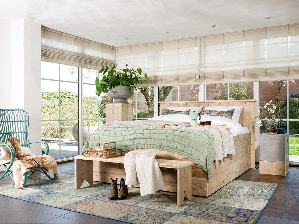 Hoog Steigerhouten Tweepersoons Bed Modern 3 0 Scaffold