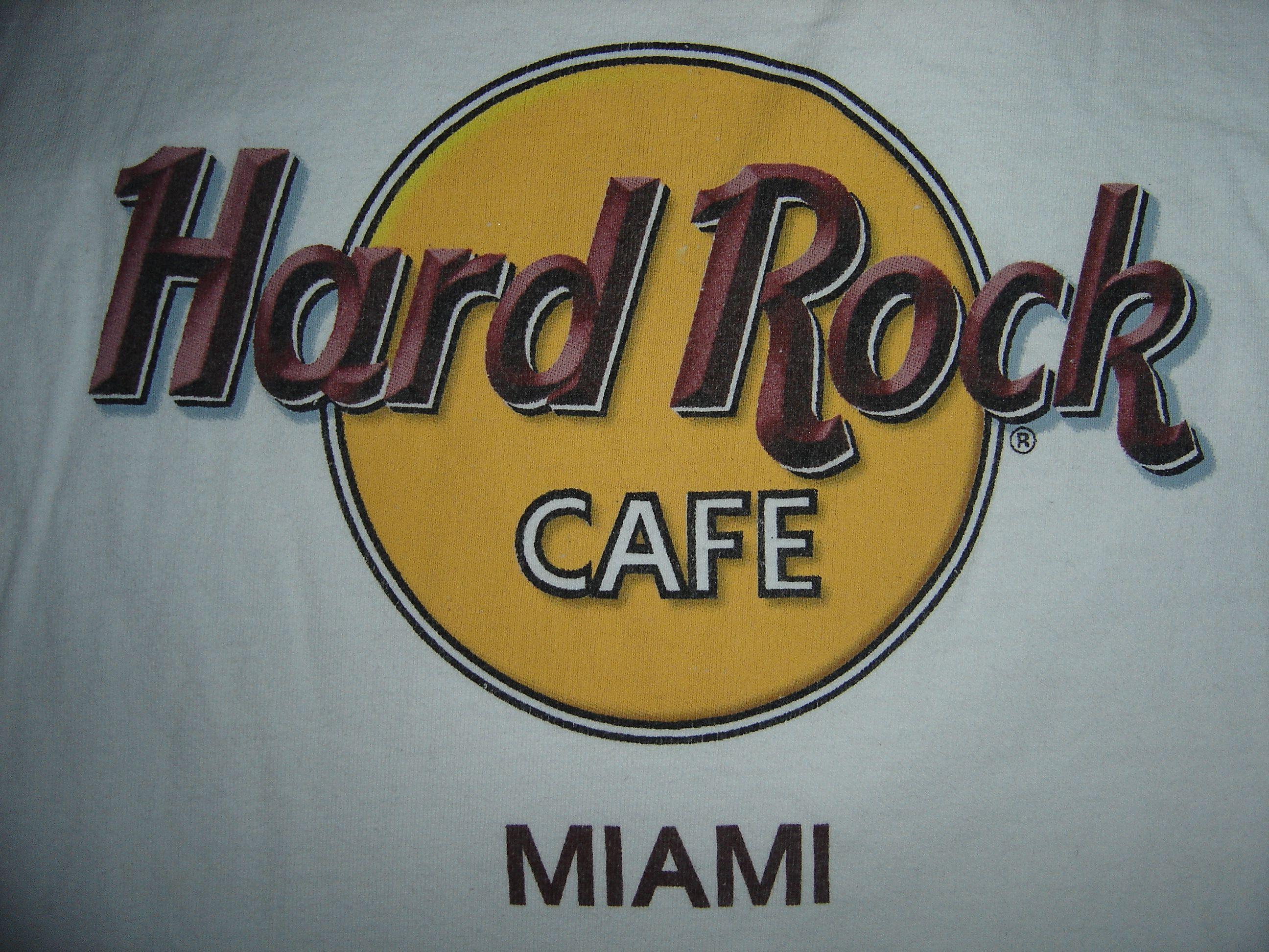 Design t shirt hard rock cafe - Hrc Miami Hard Rockmiami