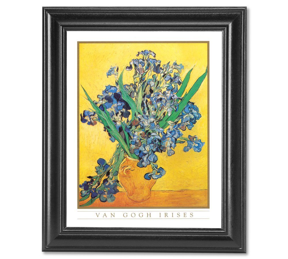 Vincent Van Gogh Irises Vase Flower Wall Picture Framed Art Print ...